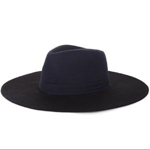 BCBG MAXAZRIA Color-Blocked Panama Hat